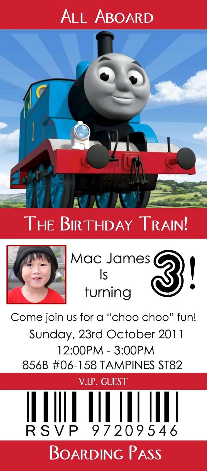 Mac James\' Thomas the Tank Engine Party! | little bonbon