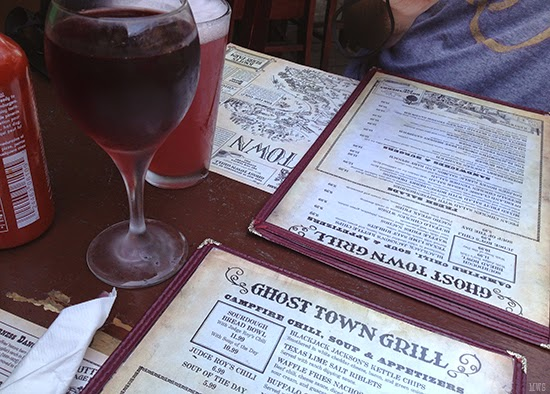 Ghost Town Grill Menu plus Boysenberry Wine