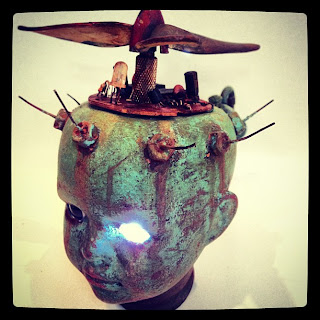 Altered Doll head Andy Skinner