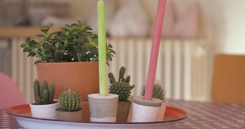 Diy bougeoirs en b ton et bougies color es un atelier au - Temps de sechage ciment ...