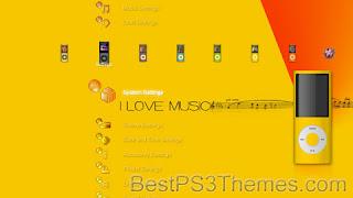 downlaod theme ps 3 ILove Music