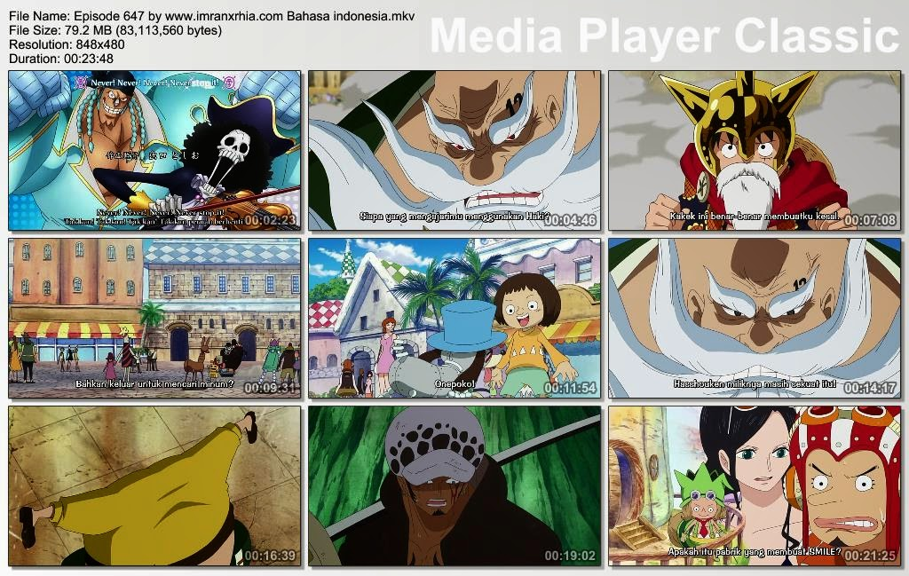 Download Film One Piece Episode 647 (Cahaya dan Bayangan! Kegelapan Dibalik Dressrosa!) Bahasa Indonesia