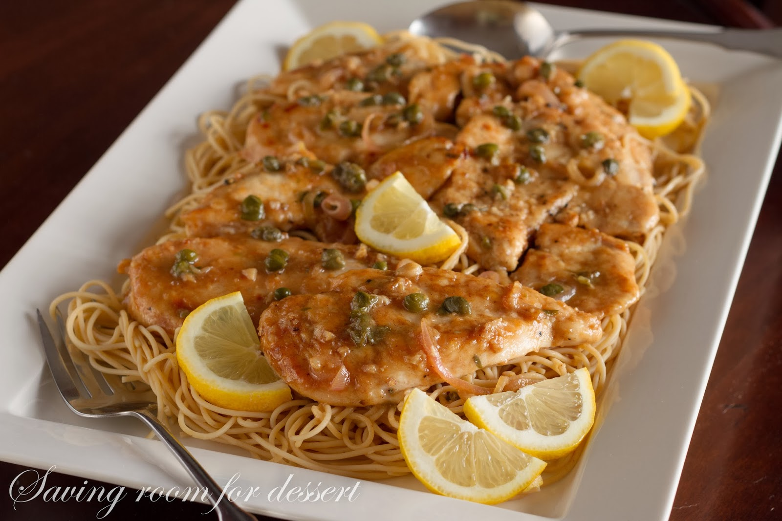 Chicken Piccata - Saving Room for Dessert