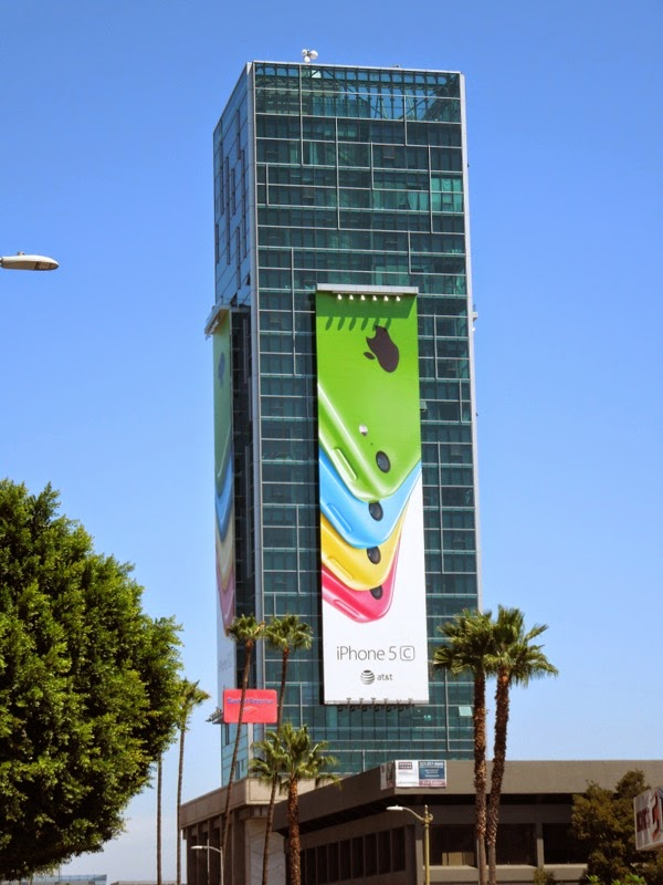 Apple iPhone 5c billboard Sunset Vine Tower