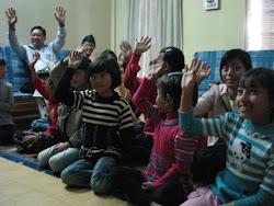 Girls at the orphanage would like to see more animated Naga folktales