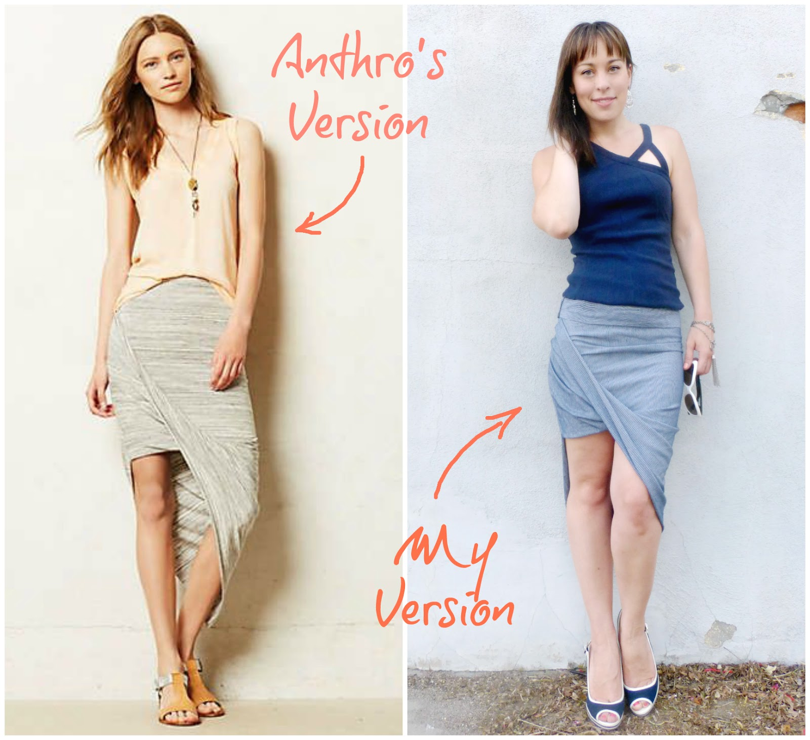 anthropologie oblique pencil skirt knock off sewing tutorial
