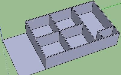 Cara Membuat Lantai dan Dinding pada Google SketchUp-8