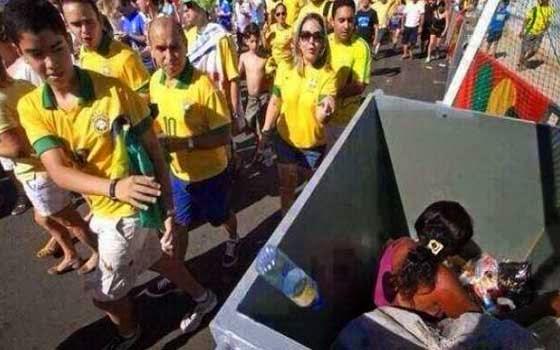 هل تعلم ماذا فعل جمهور البرازيل بهذه الفتاة