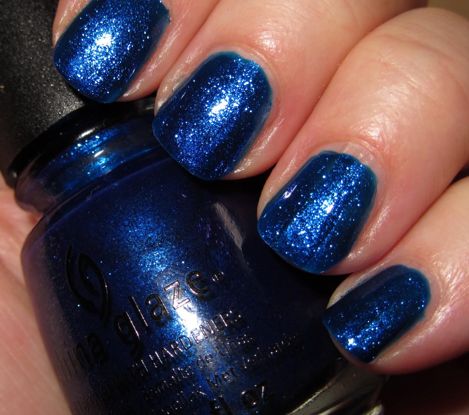 marias nail art and polish blog: blue year's eve - china glaze let