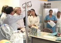 visita de Ministro de salud al hospital de Olanchito