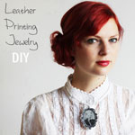 Printing Leather jewelry DIY