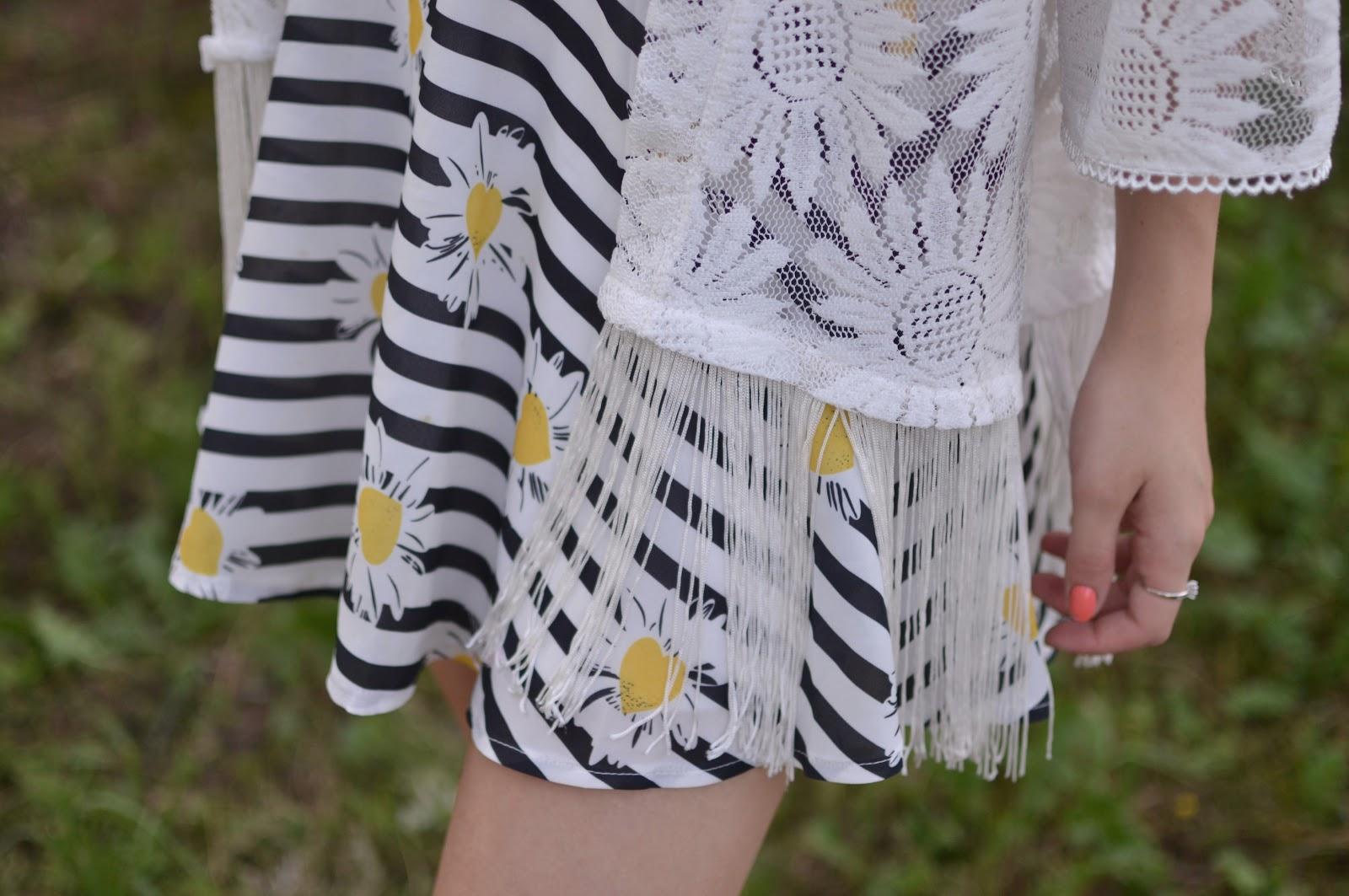 Lace kimono outfit