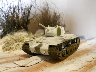 winter scene diorama of the Russian front in IIWW