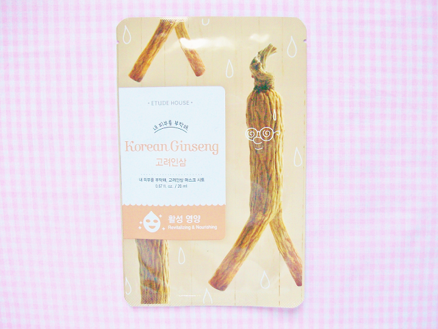 Etude House Korean Ginseng Sheet Mask Review