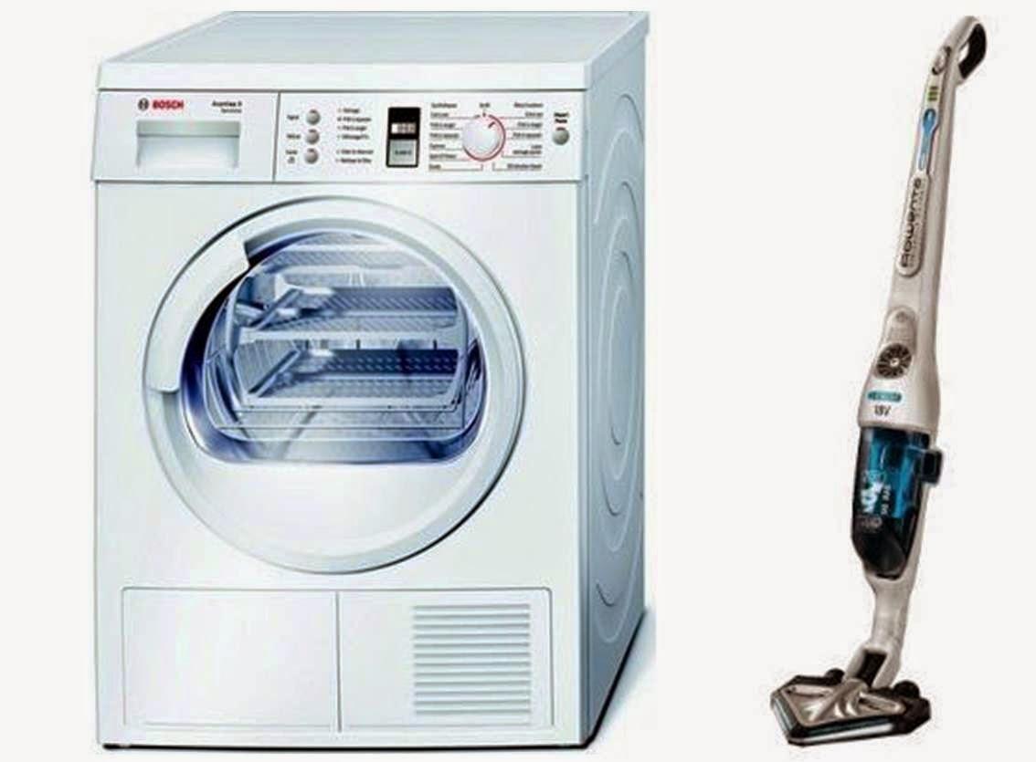 sèche linge Bosh et aspirateur Rowenta