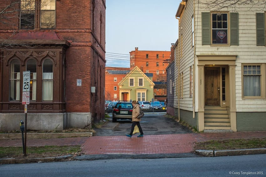 Portland, Maine April 2015 House on Avon Street from State Street photo by Corey Templeton.