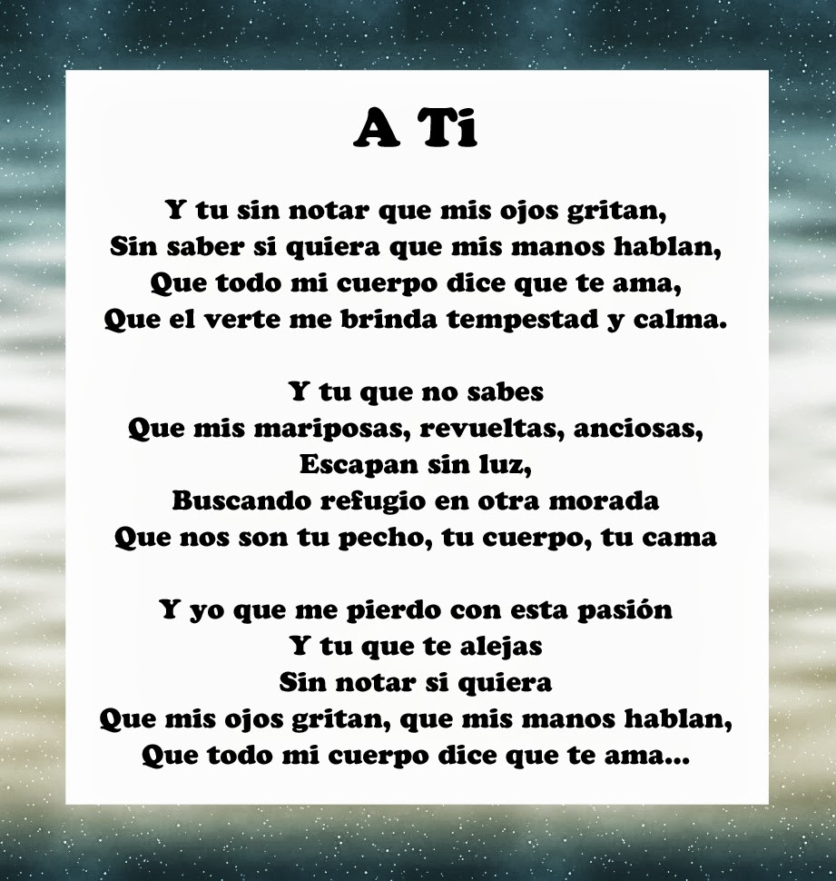 Poems in Spanish About Love Spanish Poems Poems About Love