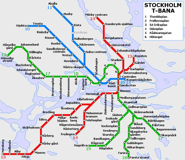 Metro map pictures stockholm tunnelbana map pictures - Metro de estocolmo ...