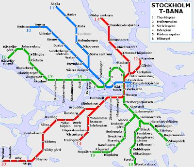 Stockholm Tunnelbana Map 1