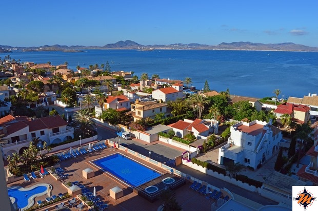 La Manga del Mar Menor, Hotel & Spa Mangalan. Vista dalla camera