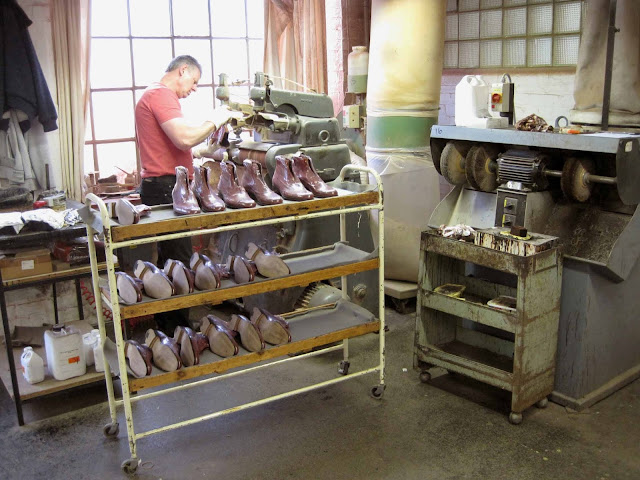 mens grenson shoes factory visit, leather brogues