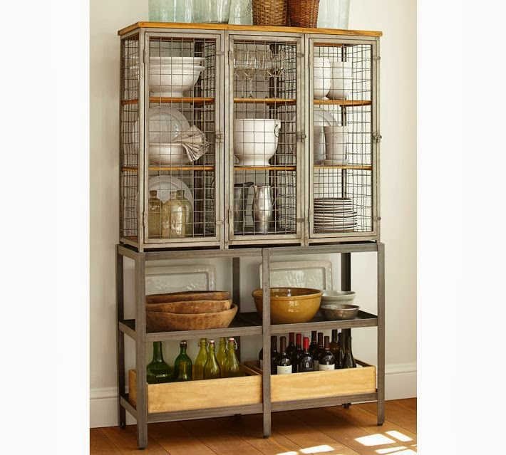 And Not Just Any Cabinet, Mind You. The Gridley Caged Storage Cabinet From Pottery  Barn. It Is So Calling My Name. Just Take A Look And Youu0027ll See All There  ...