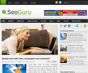 SeoGuru Blogger Template