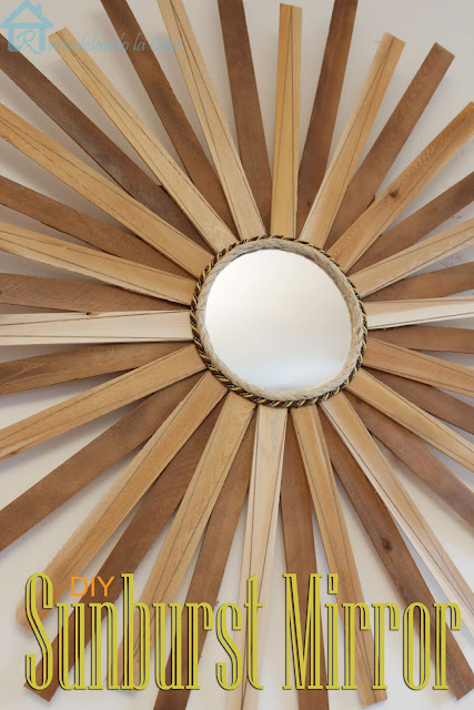 sunburst mirror made out of wooden shims