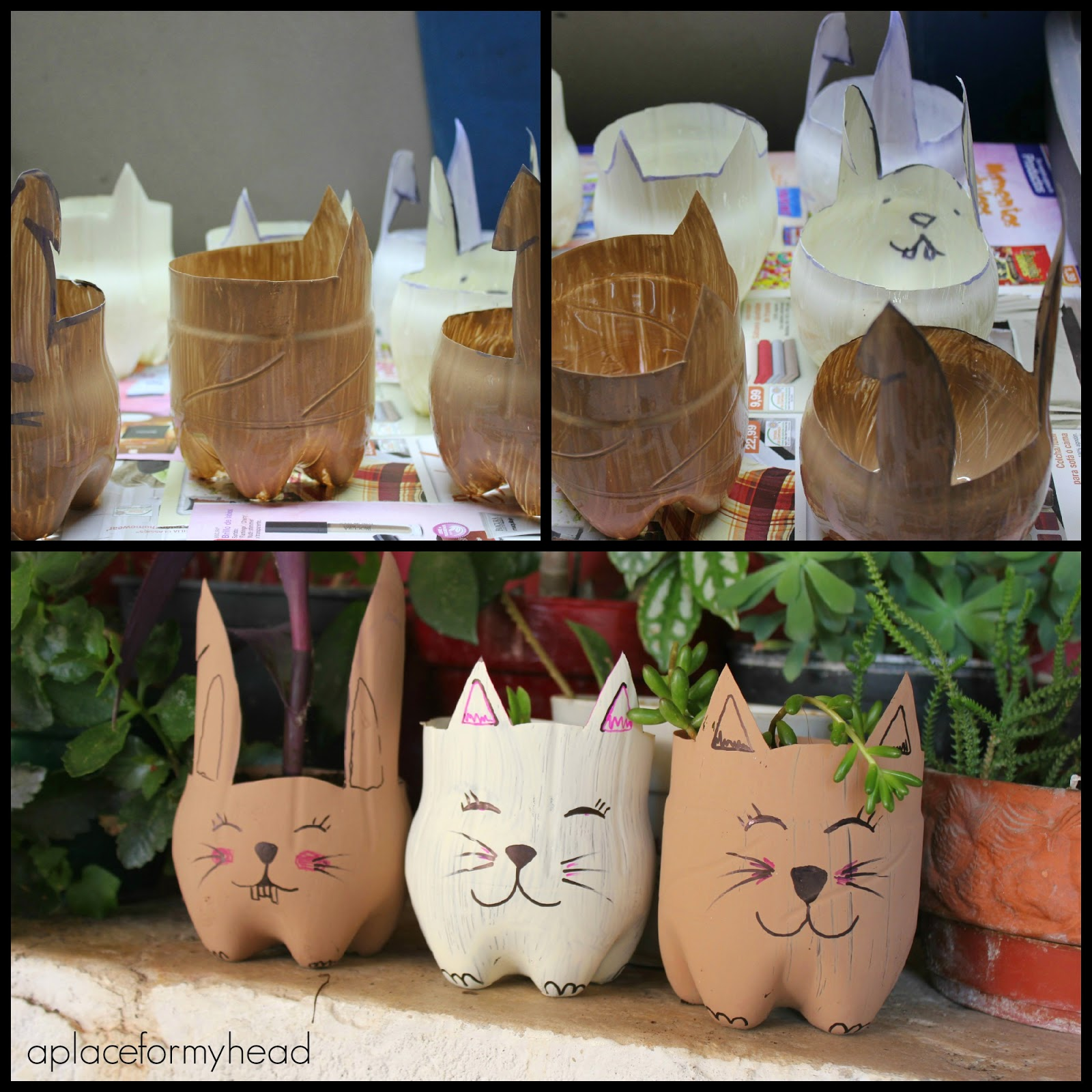 Diy de botellas a macetas a place for my head - Handmade decorative ideas for home ...