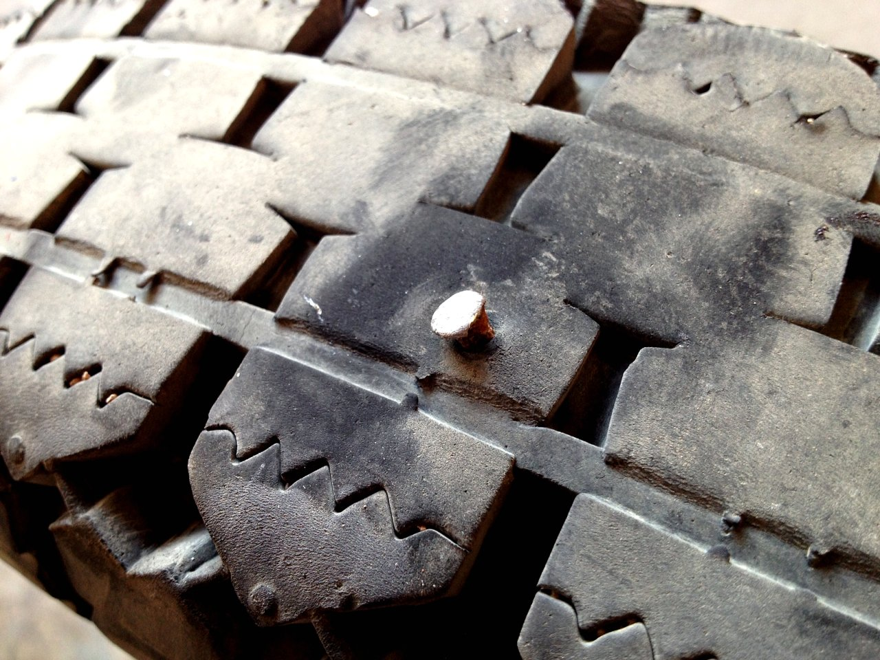 Dangers Of Nail In Tire@^*