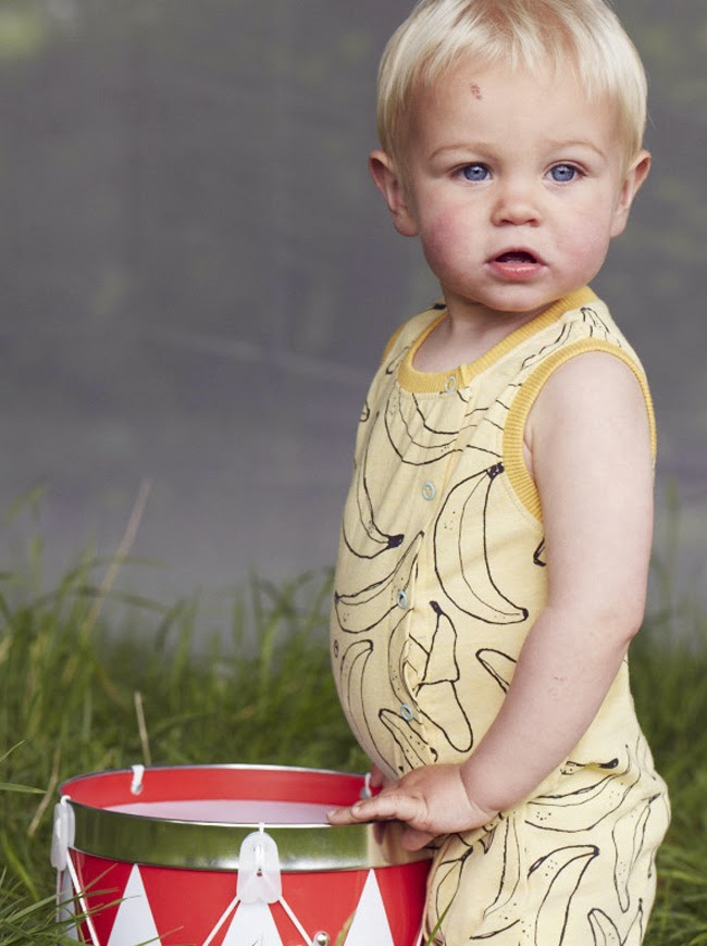 Banana print for spring 2014 kidswear collection by Indikidual