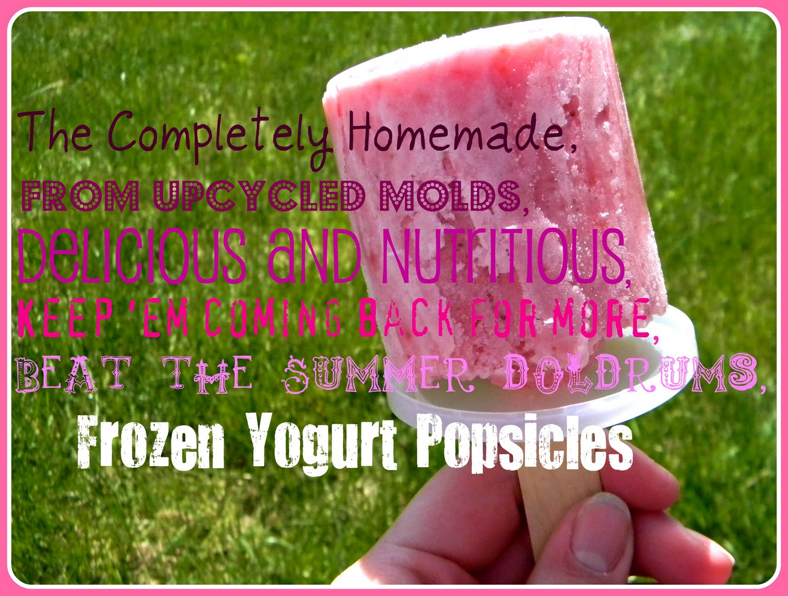 Day 21 upcycled molds frozen yogurt with bugaboo mini for What can you make with strawberries