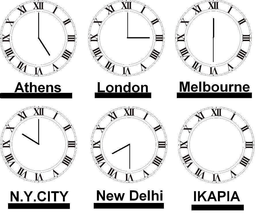 η ώρα στην Ικαρία