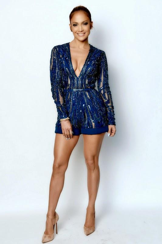 Jennifer Lopez março 2015 Elie Saab blue