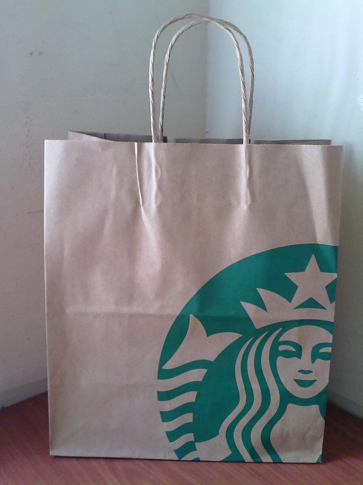 2017 Starbucks New Logo Paper Bag