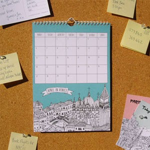 Ma Bicyclette - Buy Handmade - Calendars & Diaries - City Illustrations
