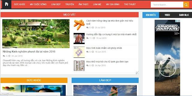 Theme Blogspot đẹp chuẩn seo nhất 2016