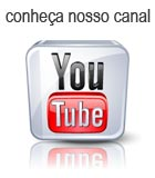 Foto da logo do YouTube direcionando para o canal do site virtual de vendas e loja física pontal da pesca