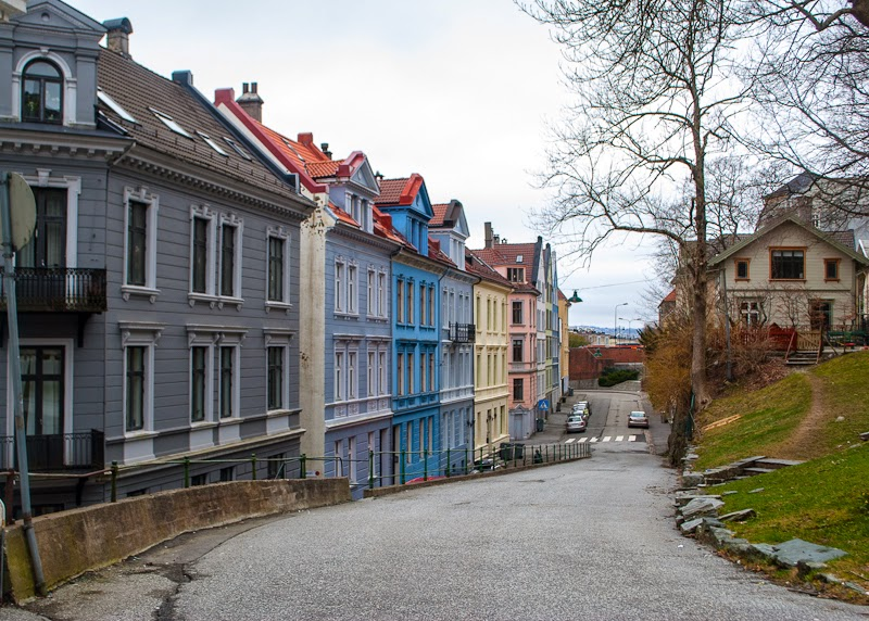Picture of residential houses in bergen
