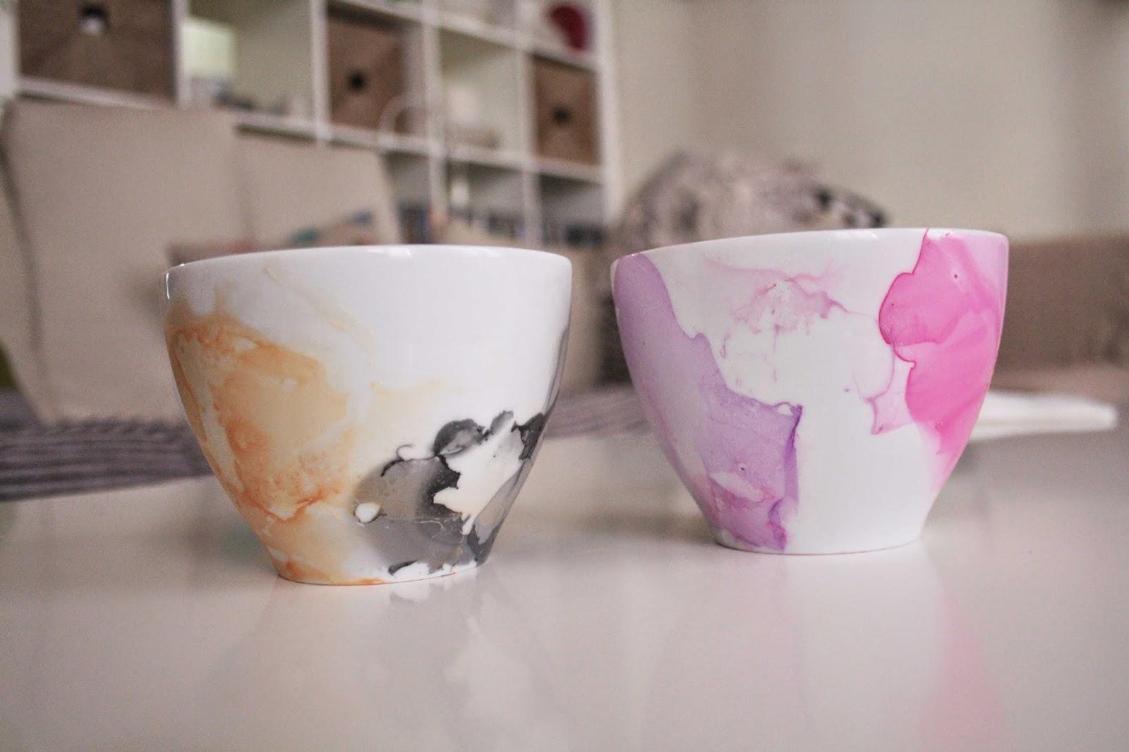 diy, watercolor mug