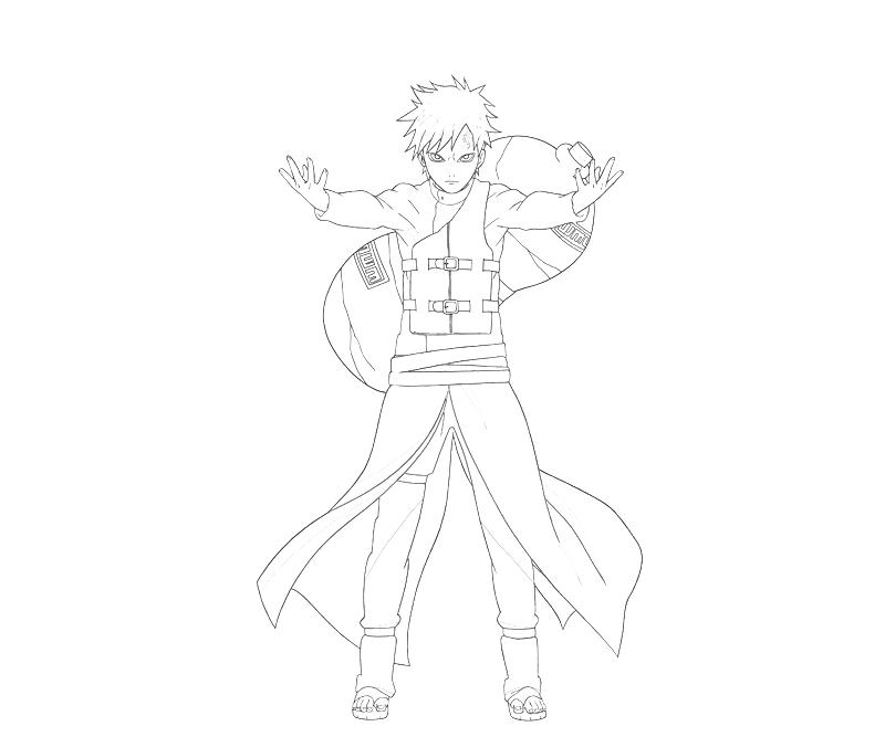 Printable Naruto Gaara Ability Coloring Pages title=