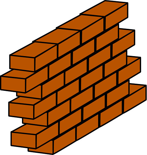 Art Wall Decor: Brick Wall Clip Art
