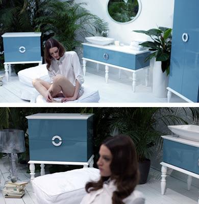 Blue Modern Bathroom Furniture