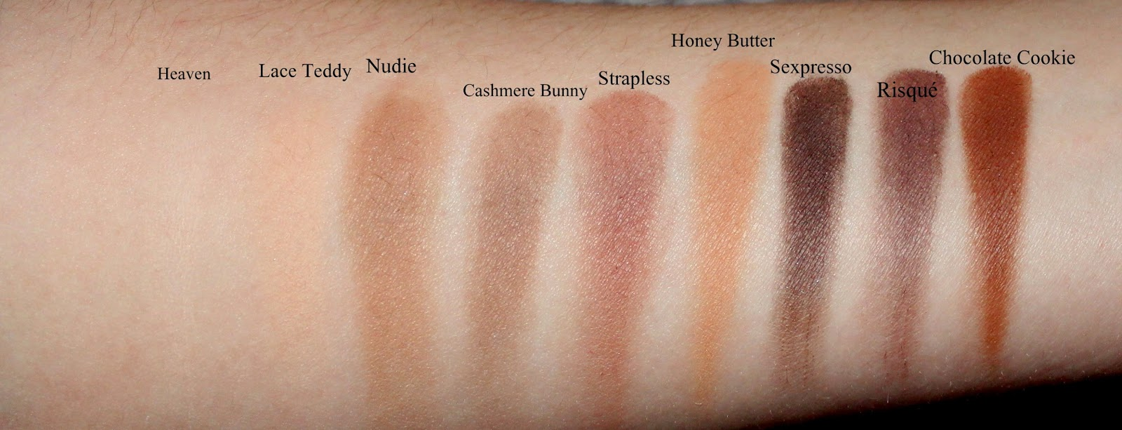 Too Faced Natural Matte Palette Swatches