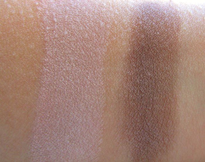 Swatches Mineralissima Eyeshadows in Nude & Whisper