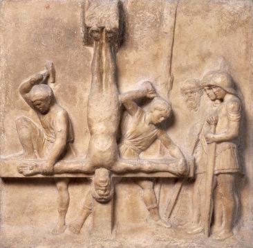 Crucificação de São Pedro, de Luca Della Robbia