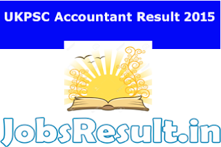 UKPSC Accountant Result 2015