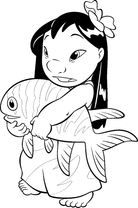 Dibujos para colorear de Lilo y Stitch title=