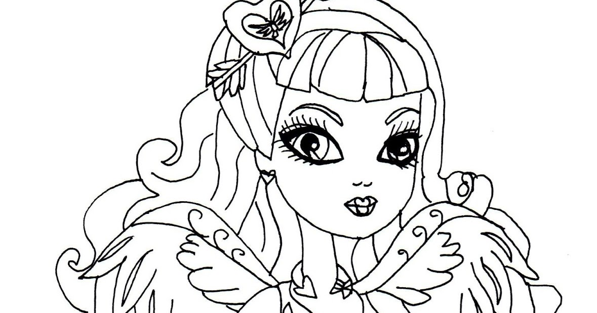 Free Printable Ever After High Coloring Pages CA Cupid Page