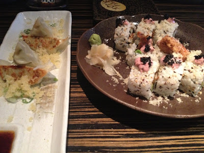 dozo london, sushi, japanese, spider maki, dumplings